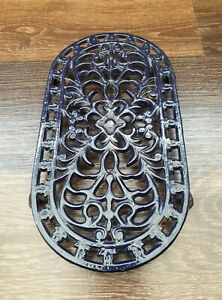 Dark Blue Cast Iron Le Creuset Style Oval Trivet Stand