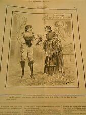Caricature 1890 - Landolff Location de Costume pas de costume serré à la taille