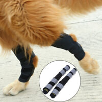 1Pair Front Knee Braces Leg Dog Canine Carpal Support safety Reflective S md
