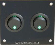 VW T1/T2/T3/T4/T5 Transporter Double Green Switch Panel 12V Splitty Bay CBE