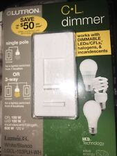 Lutron Dimmer Switch Lgcl-153Plh-Wh Lumea White
