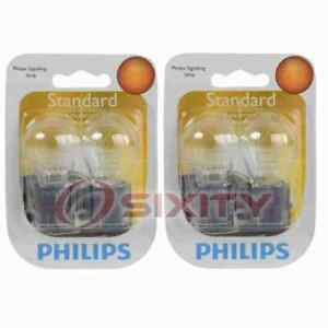2 pc Philips Tail Light Bulbs for Ford Bronco Contour Cougar Crown Victoria ww