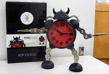 RED ROBO CLOCK WITH QUIET SWEEP ALARM CLOCK WITH SOUND AND LIGHT FUNCTION