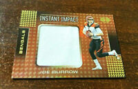 """2020 Illusions Joe Burrow Jersey Relic Rookie Patch """"INSTANT IMPACT"""" Bengals"""