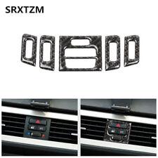 Genuine Carbon Fiber Car Air Conditioner Trim Sticker Special For BMW E90 05-12