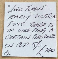R522: 1822 Silver CROWN - stamped EST QVAEDAM FLERE VOLVPTAS - ticket for £140