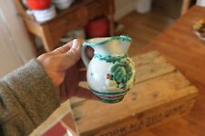 Vintage Colourful Italian Pottery Small Jug – Hand-Painted / Mid-Century – Retro