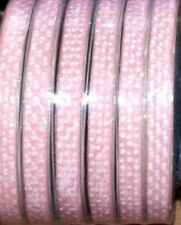10 MT DI NASTRO ORGANZA ROSA A POIS da 20 mm Ribbon BOMBONIERE Cod STEP2110M