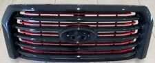 2015-2017 F-150 OEM Ford Lariat Special Edition Red Accent Grille Grill W/O Cam