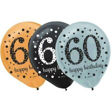 """60's 12"""" Latex [15ct] Balloon Birthday Decorations Party Supplies 60th Balloons"""