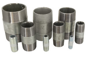 "Galvanised Malleable Iron Barrel Nipples 6mm - 50mm (1/8"" - 2"")"