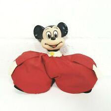 Vintage Mickey Mouse Bean Bag Toy Plush Walt Disney Productions Made In Japan