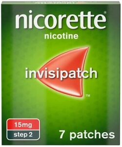 6 x Nicorette Step 2 Invisi 15 mg 7 Patches 6 x7 42 patches