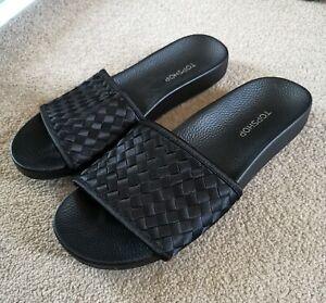 TOP SHOP Black Sliders Size 4