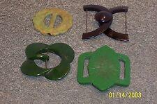 4 Vintage Bakelite Belt Buckles