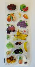 1 Sheet Realistic Food Puffy Stickers Papercraft Party DIY Craft Journal