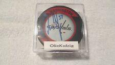 """Olaf Kolzig signed Puck Washington Capitals """"Olie The Goalie"""""""