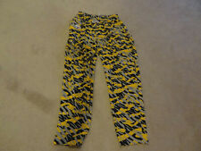 Vintage NFL Pittsburgh Steelers NIXZ Pants Black Yellow Large Football Workout
