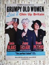 GRUMPY OLD WOMEN LIVE 2 - A5 FLYER - CHIN UP BRITAIN 2010