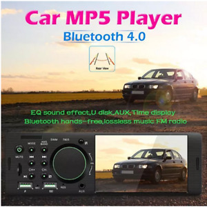 4.1in 1DIN USB FM Car Stereo Radio MP5 Player Bluetooth Touch Screen Head Unit