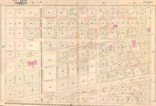 1883 NEW ORLEANS LOUISIANA OLD MARINE HOSPITAL CANAL ST - JULIA STREET ATLAS MAP
