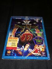 Disney's Snow White and the Seven Dwarfs (Blu-ray/DVD, 2009, 3-Disc) New Sealed