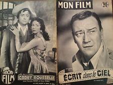 """MON FILM 1954  N 436 """" ECRIT DANS LE CIEL """" avec JOHN WAYNE - CLAIRE TREVOR"""