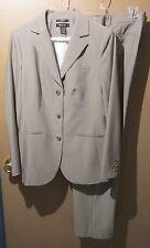 Style & co. ladies size 10-12 Pant suit business tan brown pinstripe  EUC-161055