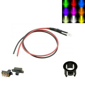 3/5mm LED Light Kits Inc Switch - Flashing/Constant - Size/Colour Options