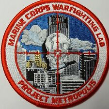 U.S. Marine Corps Warfighting Lab Project Metropolis Patch Patch