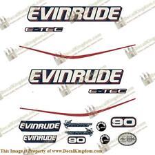 Evinrude 90hp E-Tec - Blue Cowl Outboard Decal Kit 3M Marine Grade