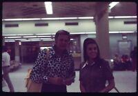 Man Pretty Stewardess Inside Airport 70s Vintage 35mm Ektachrome Slide