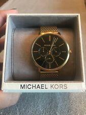 Michael Kors MK8690 Blake GoldTone Stainless Steel Mesh Bracelet Men's Watch NWT