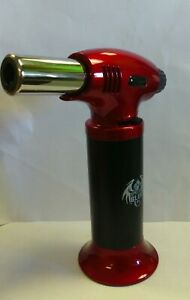 """SPECIAL BLUE """"INFERNO"""" PROFESSIONAL TORCH JET FLAME BUTANE REFILLABLE - RED"""
