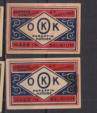 Ancienne   étiquette    allumettes Belgique   AZ5302  OKK Average 47