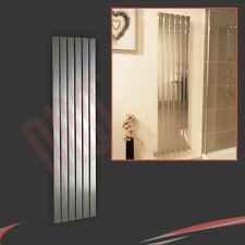 "450mm(w) x 1600mm(h) ""Luna"" Designer Chrome Vertical Radiator 6 Flat Panels"