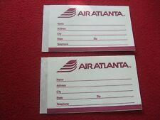 AIRLINE BAGGAGE STICKERS X 2 AIR ATLANTA 1980'S / 90'S VINTAGE