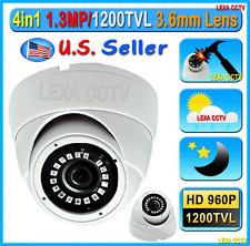 1200TVL 960P 1.3MP 3.6mm Lens Night Vision Outdoor Vandal proof Dome CCTV Camera