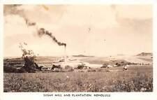 HAWAII, SUGAR MILL & PLANTATION, RPPC, used US Navy & Censor Cancels 1940's