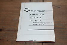 Cavalier 1991 Supplement + Convertible Chevy GM Shop Service Manual ST36691 SUPP