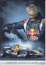 David Coulthard Red Bull F1 PROMO CARTE un signé FORMULE 1 A.