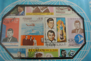 Rare STAMP COLLECTION Stamps J F KENNEDY World Postage TREAT Space Flights +