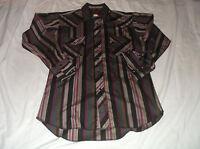 Men's RUSTLER X Long Tails Long Sleeve Pearl Snap Westen Shirt Sz 15 32/33