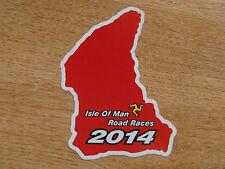 X1 Isle of Man TT Races 2013 Mappa corsi ADESIVO ROSSO 105mm High