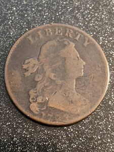 1798 Draped Bust 1C Large Cent, problem-free, highly detailed, Rare!