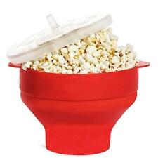 Silicone Microwave Popcorn Popper Maker Collapsible Hot Air Machine Bowl Gadget