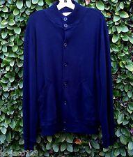 BRUNELLO CUCINELLI DARK BLUE CASHMERE COTTON SWEATER JACKET - ITALY Sz 58 XL XXL