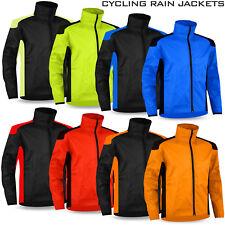 Mens Cycling Rain Jacket Hi Visibility Waterproof Running Full Sleeve Top Coat