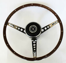 New! 1967 Ford Mustang Wood Steering Wheel Original Style w Horn Ring Collar pad
