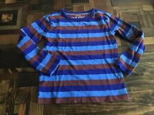 Crewcuts Top Explore Without Footprints Blue Stripe 4-5